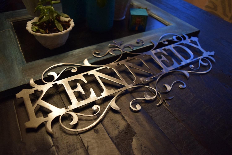 Personalized metal name sign custom metal name sign for Custom wall art