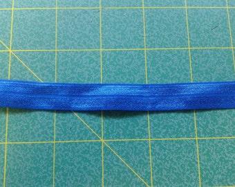 Foldover Elastic 5/8 Binding Cobalt Blue, Lingerie Elastic Trim