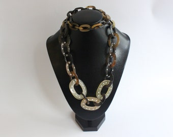 Horn Jewelry Chain Necklace Handmade :dc 007