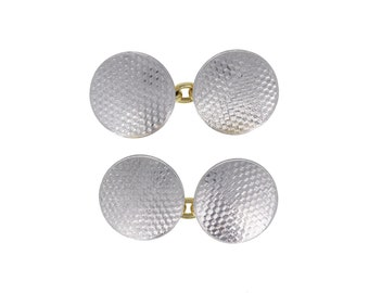 Pair of Gold and Platinum Cufflinks