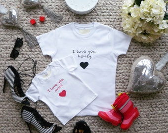 T-shirt for mother and baby 2 parts / Queen of the dance floor / playground