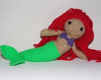 little mermaid amigurumi doll Etsy