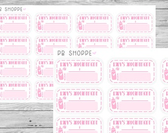 16 Baby's Appointment Stickers (Pink, Blue, Neutral)
