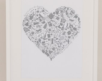 Home is where the Heart is GREY PRINT