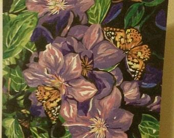 Peaceful lavender garden