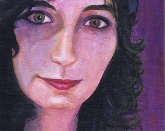 Acrylic portrait on Commission