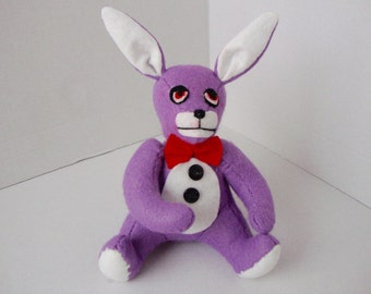 "Bonnie the Bunny - of ""Five Nights at Freddy's"" inspired felt  plushie/soft toy."