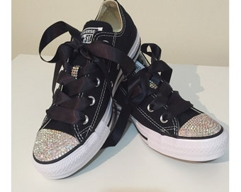 Adult Rhinestone Converse Shoes