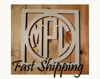 Wooden Wall Monogram, Home Decor, Wooden Monogram, Wall Art, Initial monogram,Wedding Decor, Any Size