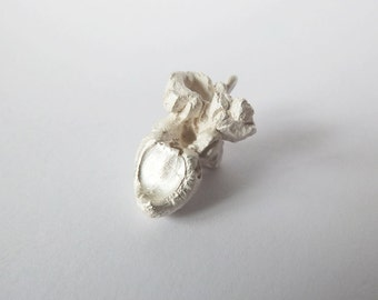 POPCORN charm 925 sterling silver, solid, design, popcorn, handmade, special, unique, funny, tasty, 925 calories