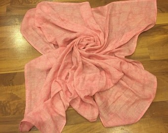Gauze Swaddle Blanket, Receiving Blanket, Pink Receiving Blanket, Pink Swaddle Blanket, Large Swaddle Blanket, Infant Blanket, Pink Blanket