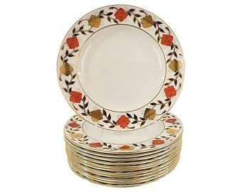 Tiffany Crown Derby Dinner Plates 12, Tiffany Dinner Plates, Crown Derby Dinnerware