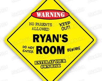 RYAN'S ROOM SIGN kids bedroom decor door children's name boy girl gift