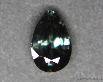 Green-blue Color change Garnet, faceted, Madagascar. 0.88 carat.