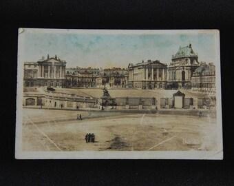 Tinted postcard of Versailles Palace.