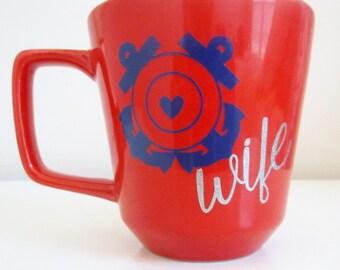 Coast guard wife/mom mug