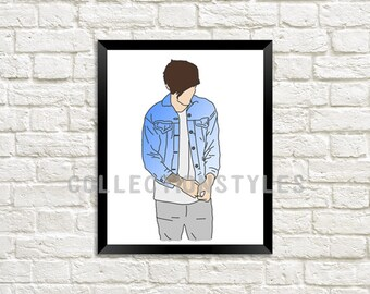 Louis Tomlinson Outline print