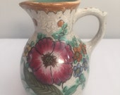 "Vintage Royal Zuid Holland Dutch Pottery Pitcher Signed Areo Gouda ""A"""