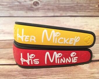 Mickey & Minnie Magic Band Decal Set