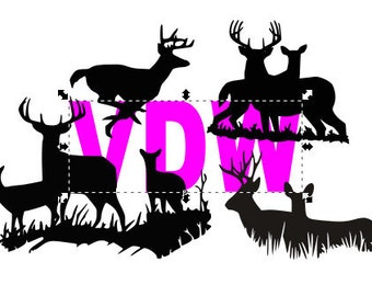 Deer Doe Silhouette SVG, DXF and EPS vinyl cut Files, for Cameo and Cricut Explore machines.