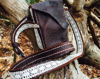 Small Buffalo Bag with Lace
