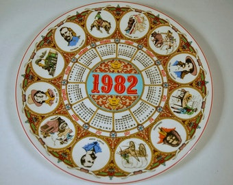 Wedgwood Calendar Plate 1982 'Wild West' Collectible plate retro