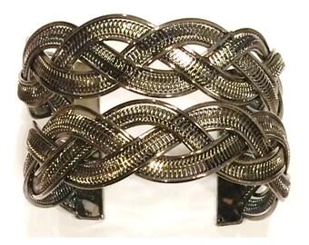 Wire Braided Cuff Bracelet