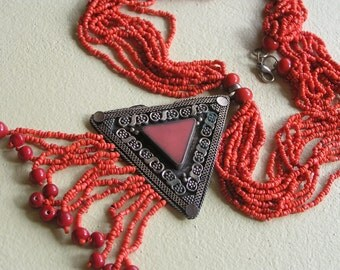 MASSIVE Statement Necklace . Boho Gypsy jewelry