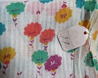 Cottage Chic Vintage Dimity Print Cotton 1 1/2 Yard.
