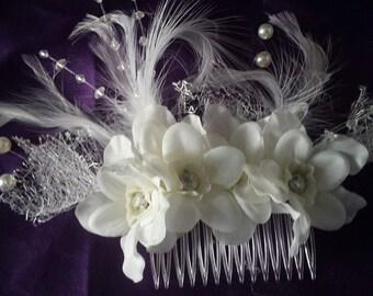 Vintage Floral Wedding Comb