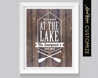 Cottage/Trailer Decor - Lake Life