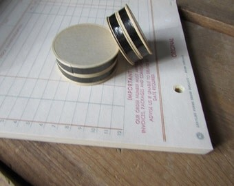 Two Tiny Bandboxes Teeny Tiny Round Boxes