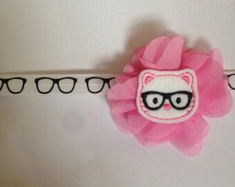 Kitty glasses headband