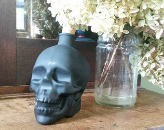 Glass Skull with Chalkboard Paint