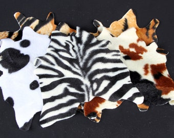 Animal print rug for 1/2 scale dollhouses