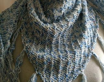 hand-knitted Boho Shawl