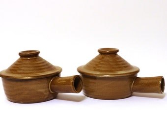Vintage French Onion Soup Bowls - Set of 2 Beautiful French Onion Soup Bowls with Chimney Lids
