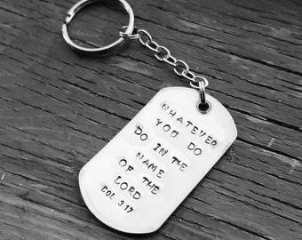 Personalized Hand Stamped Dog Tag