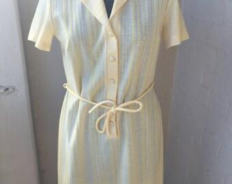 Yellow 1960s Summer Beach Dress