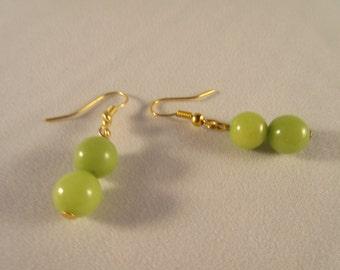 Coral beads dangle/drop earring
