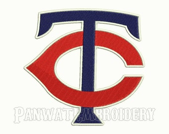 7 Size Minnesota Twins Logo Embroidery Designs, Machine Embroidery Designs, Baseball Embroidery Designs - INSTANT DOWNLOAD
