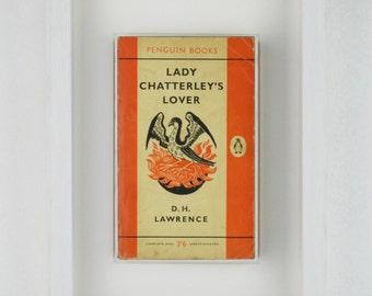 Framed Vintage Book : Lady Chatterley's Lover - D.H. Lawrence (Penguin)