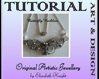 Butterfly Necklace Step-by Step-Tutorial Wire Wrapping Instant Download