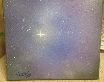 Airbrushed Galaxy Painting