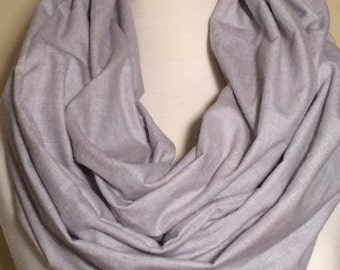 Infinity Scarf Scarfs Scarves Grey Gray Loop Flannel Herringbone Gift