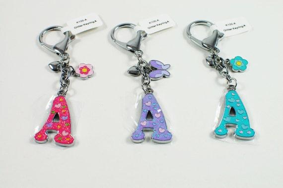 Glitter Alphabet Keyring Initial -  Christmas Gift