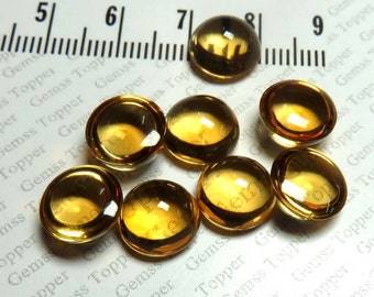 Citrine Cabochon 10mm Round Gemstone - AAA Quality Natural Cabochon Citrine Loose Gemstone - Cabochon Round Gemstone - FOR ONE