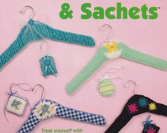 Hanger Covers & Sachets, The Needlecraft Shop Plastic Canvas Pattern Booklet 846509 NEW