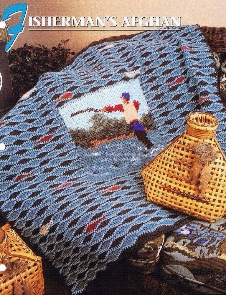 Annie S Culinary Creations Part 2: Fishermans Afghan Annie's Attic Crochet Quilt & Afghan