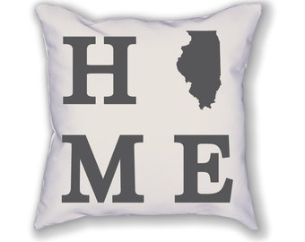 Illinois Home State Pillow